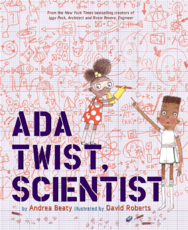 Read a review of Ada Twist, Scientist, another great STEM picture book by Chicagoland author Andrea Beaty.