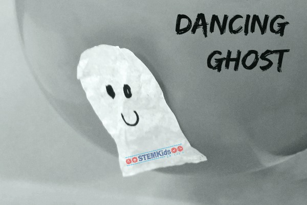 Make a not-so-spooky ghost dance with the power of static electricity!